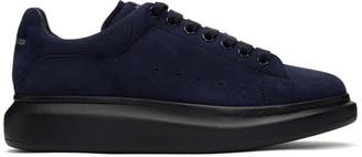 Alexander McQueen Blue Velour Oversized Daim Sneakers