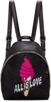 Stella McCartney Black Small Falabella all Is Love Backpack