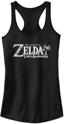 Nintendo Licensed Character Juniors' Legend Of Zelda Link's Awakening Logo Tank