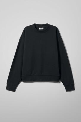 Weekday Huge Cropped Sweatshirt - Black