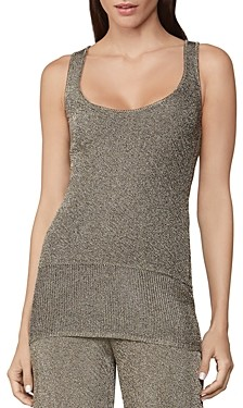 Herve Leger Metallic Double-Face Tank Top