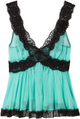 Dolce & Gabbana Lace-trimmed Silk-blend Top