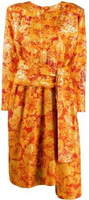 Saint Laurent Pre-Owned lurex detailing floral dress