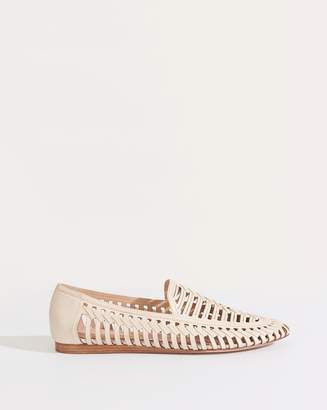 Veronica Beard Greece Cutout Leather Loafer