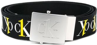 Calvin Klein Jeans Webbing Plaque Belt