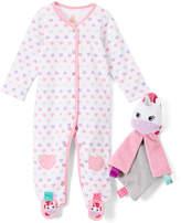 Taggies White Heart Footie & Unicorn Blanket - Infant