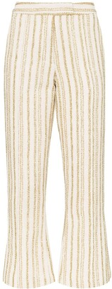 Rosie Assoulin The Scrunchy striped flare trousers
