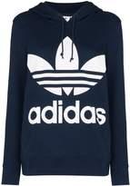 adidas logo-print hooded sweatshirt