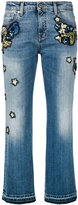Roberto Cavalli embroidered cropped jeans - women - Cotton/Polyester/Spandex/Elastane - 40