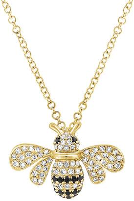Bumble Bee Sabrina Designs 14K 0.21 Ct. Tw. Diamond Necklace