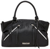 Kenneth Cole Reaction Black Lucky Pebbled Satchel
