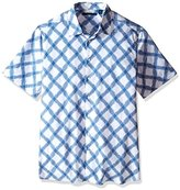 Perry Ellis Men's Big and Tall Exclusive Multi Color Neat Print Shirt