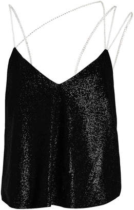 Mason by Michelle Mason Crystal Strap Shimmer Camisole