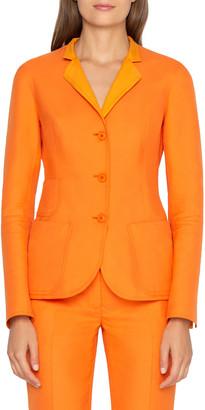 Akris Elation Button-Front Cotton Jacket