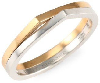 Repossi Antifer 18K Rose & White Gold Colorblock Ring