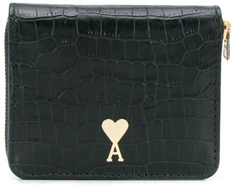 Ami Crocodile Embossed Leather Wallet