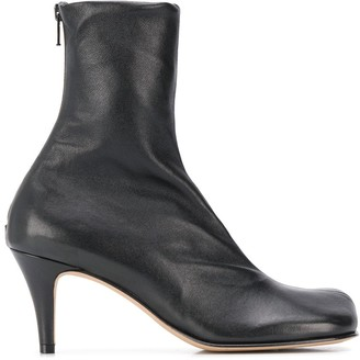 Bottega Veneta Heeled Square-Toe Ankle Boots