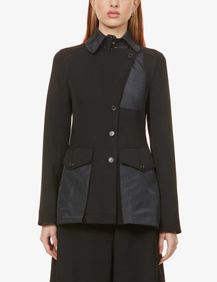 J.W.Anderson Flared-hem wool and shell trench coat