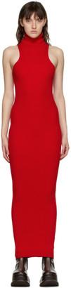 Sunnei Red Rib Knit Tank Dress