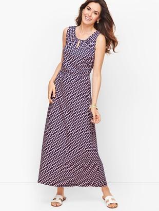 Talbots Jersey Maxi Dress - Daisy Print