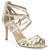 Diane von Furstenberg Rao Strappy Metallic Leather Sandals