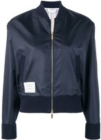 Thom Browne Center Back Navy Ripstop Bomber
