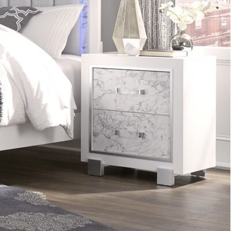Everly Faria 2 Drawer Nightstand Quinn