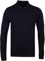 Armani Jeans Navy Long Sleeve Polo Shirt
