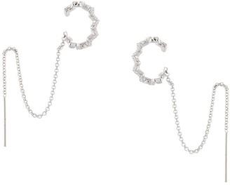 APM Monaco Chainlink Irregular Ear Cuffs