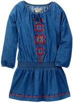 Lucky Brand Embroidered Chambray Peasant Dress (Little Girls)