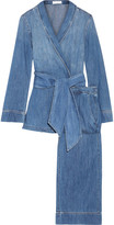 Equipment Lafayette Cotton-chambray Pajama Set - Mid denim