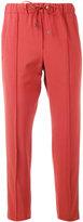 Brunello Cucinelli side-stripe cropped trousers - women - Silk/Polyester/Spandex/Elastane/Virgin Wool - 42
