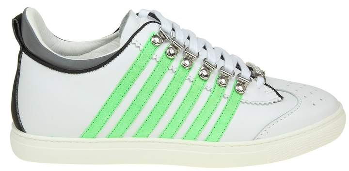 DSQUARED2 Sneakers Runner 251 In White Leather