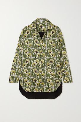 Loewe Printed Silk-twill And Crepe Shirt - Yellow