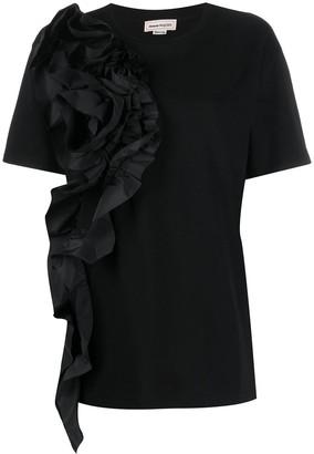 Alexander McQueen ruffle front T-shirt