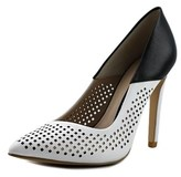 French Connection Maya2 Women Pointed Toe Synthetic White Heels.