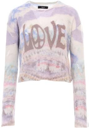 Amiri Distressed Love Tie-Dye Jumper