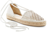 Frye Leo Perforated Ankle Wrap Espadrille Flat