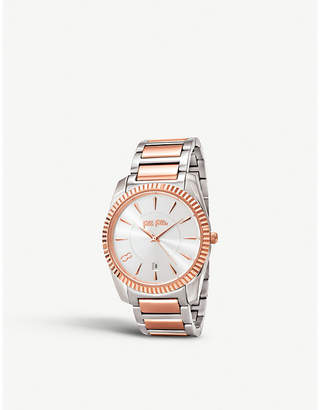 Folli Follie Chronos Tales silver and rose-gold plated stainless steel watch