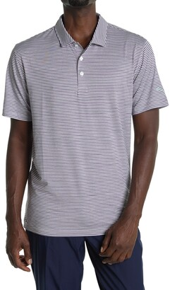 Puma Caddie Dark Purple Stripe Golf Polo