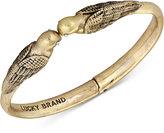 Lucky Brand Gold-Tone Kissing Birds Hinged Cuff Bracelet