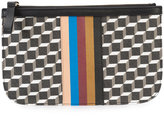 Pierre Hardy geometric print pouch - unisex - Calf Leather/Canvas - One Size