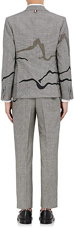 Thom Browne MEN'S HILL & HOUSE PRINT WOOL THREE-BUTTON SUIT