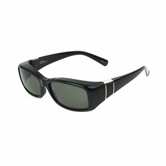 Dioptics Women's Haven-Freesia Leather Rectangular Polarized Fits Over Sunglasses