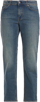 Acne Studios Row Carter Cropped Mid-rise Straight-leg Jeans