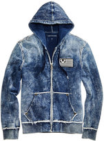 True Religion Men's Decayed Raw Edge Full-Zip Hoodie