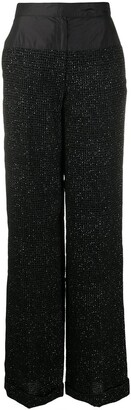 Gianfranco Ferré Pre Owned 1990s Sequinned Loose Trousers