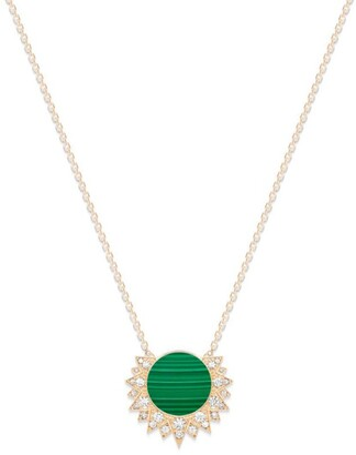 Piaget Rose Gold, Diamond and Malachite Sunlight Necklace