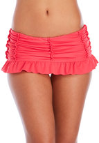 Betsey Johnson Rose Garden Skirted Bikini Bottom