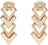 Versace Gold Medusa Arrow Earrings